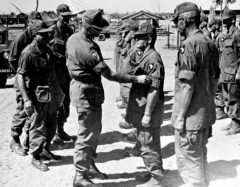 General Westmoreland with the troops. Photo by Earl Van Alstine