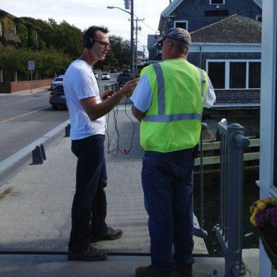 Eric Jones interviews the bridge tender in Woods Hole, MA.
