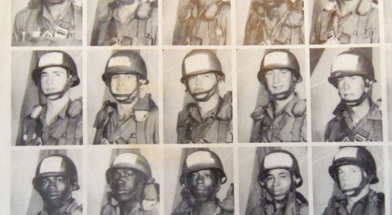Dave Dillard (center) from his jump school year book.