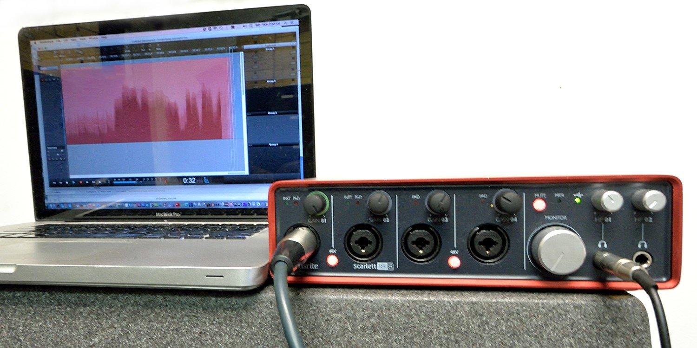 noise using focusrite 2i2 headphones