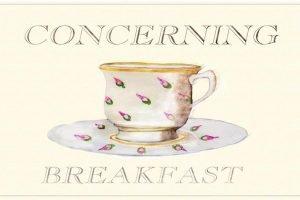 Concerning Breakfast