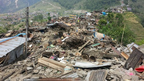 Barpak, post earthquake 2015