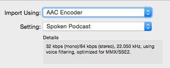 iTunes Spoken Podcast