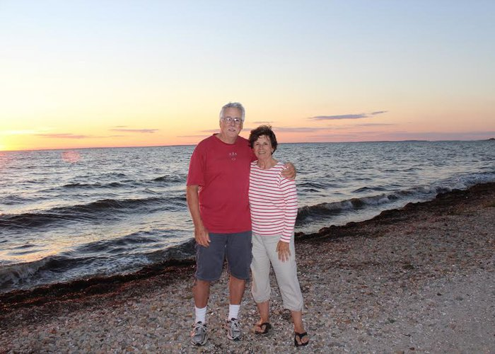 A recent photo of my mom and her longtime partner, John.