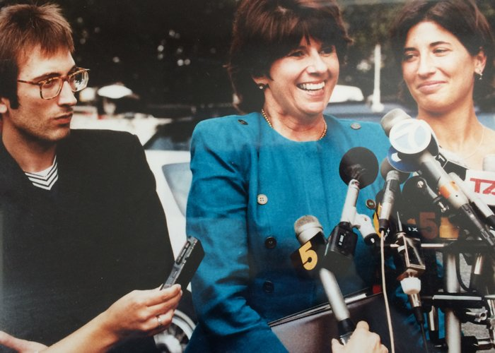 My brother, my mother and me at a press conference in 1995 just after Reginald McFadden was sentenced for his crimes against my mother.