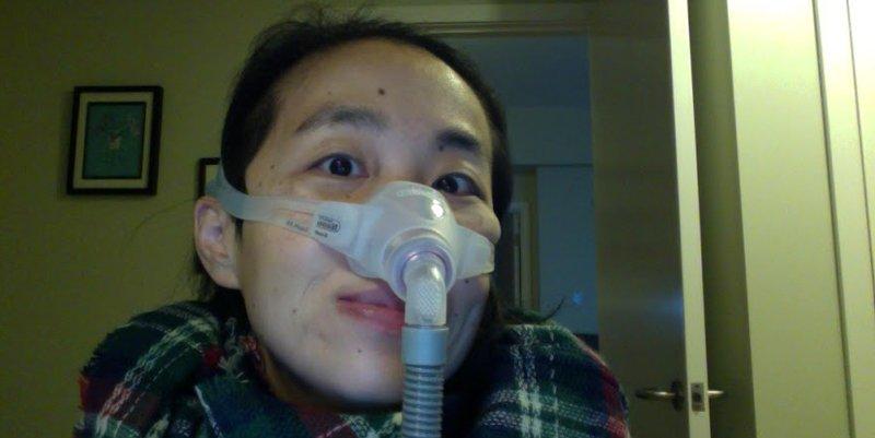 Alice with bi-pap machine