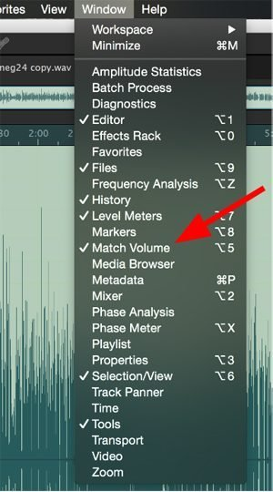 photo of Match Volume adjustment