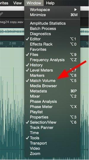 photo of Match Volume adjustment