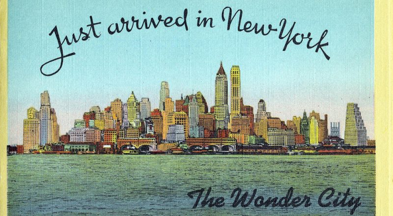 old post card of New York