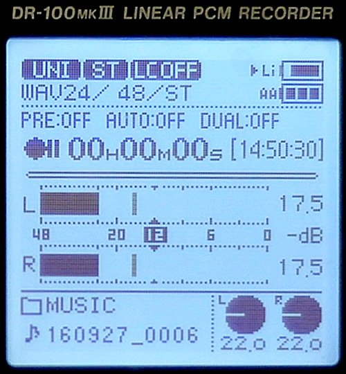 DR100mk3-display