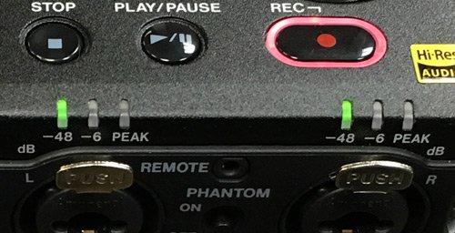 DR-100mk3-Input Gain Lights