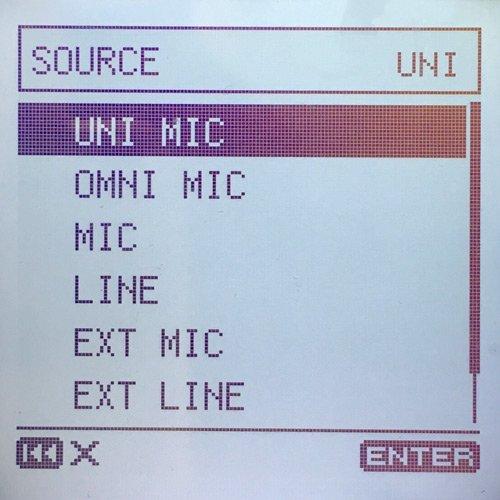DR-100mk3-Input Menu