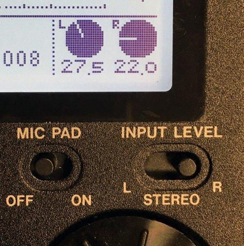 DR-100mk3-Input control
