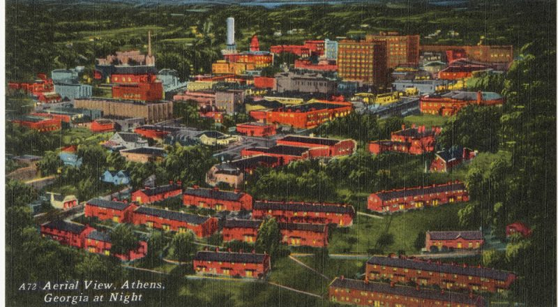 old post card of Athens, Georgia