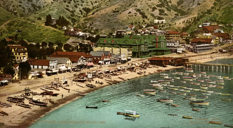 old postcard of Catalina Island