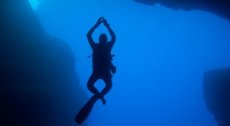 photo of freediver