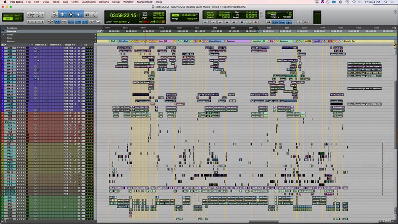 photo of one of Mark's Pro Tools sessions
