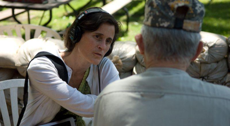 photo of Erica Heilman interviewing