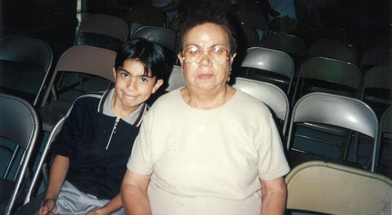photo of Matt and his grandmother