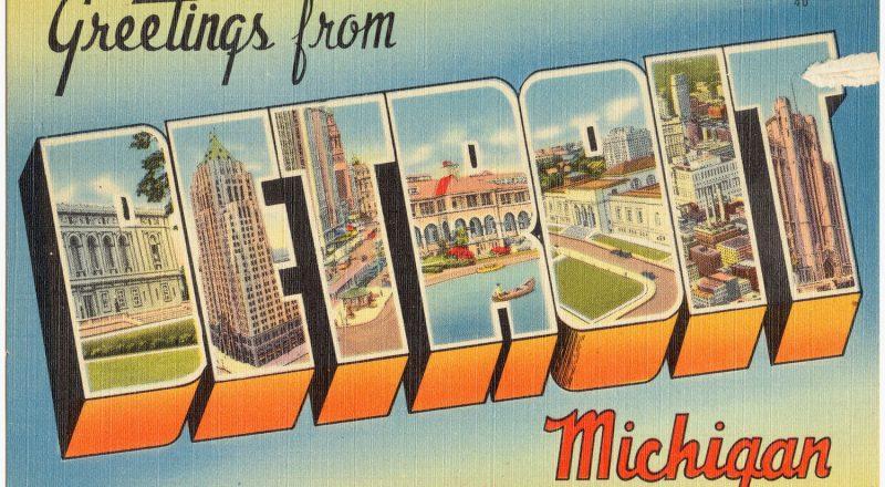 postcard of Detroit Michigan