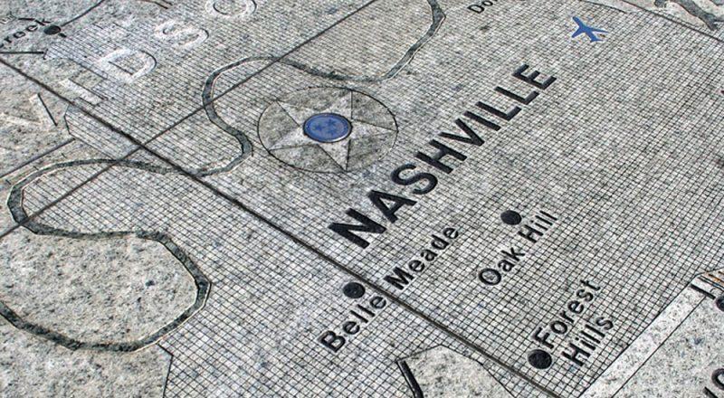 photo of map of Nashville